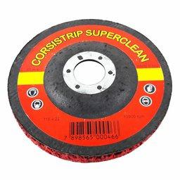 Disco Corsistrip Superclean Cerâmico Vermelho Grosso Diâmetro 115mm Furo 22mm Made in Italy