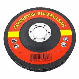 Disco Corsistrip Superclean CS Coarse Preto Grosso Diâmetro 115mm Furo 22mm Made in Italy