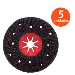 Jogo de Disco Semirrígido Estriado para Polimento 180mm com 5 Discos