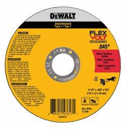 Disco Abrasivo de Corte  Flexvolt 4-1/2 X .045 X 7/8 com 5 Peças