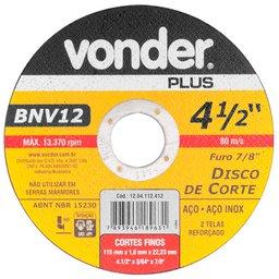 Disco de Corte 115mm 13.370rpm para Aço Inox