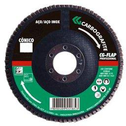 Disco Flap Cônico de Zircônio de 115mm Grão 80
