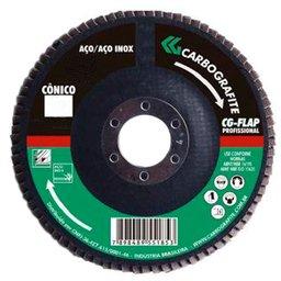 Disco Flap Cônico de Zircônio de 115mm Grão 120