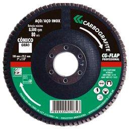 Disco Flap Reto de Zircônio de 115mm Grão 40