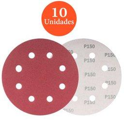 Disco de Lixa com 180mm Grão 150 com 10 unidades