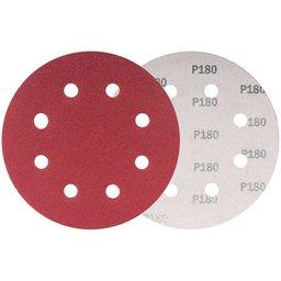 Disco de Lixa com 180mm Grão 180 com 10 Unidades