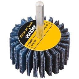 Roda de Lixa 60 x 20mm com Haste Grão 50