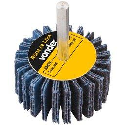Roda de Lixa Grão 60 60mm x 20mm com Haste