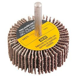 Roda de Lixa 60 x 20mm com Haste Grão 80