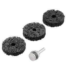 Jogo de Esponjas Abrasivas com Haste para Polimento Médio 50mm com 4 Peças