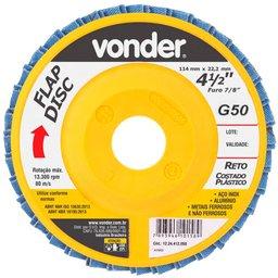 Disco de Desbaste/Acabamento Flap Disc Reto 4.1/2 Pol. Grão 50