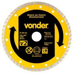 Disco de Corte Diamantado 180mm Turbo V2