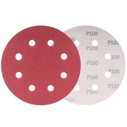 Disco de Lixa com 180mm Grão 100 para Lixadeira LPV 750 com 10 Peças