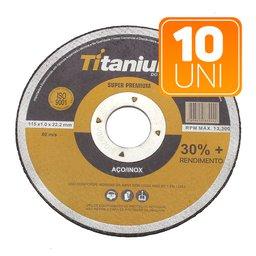 Kit 10 Discos de Corte Fino 4.1/2 Pol. Super Premium