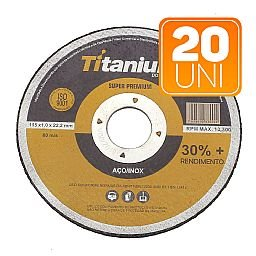 Kit com 20 Discos de Corte Fino 4.1/2 Pol. Super Premium