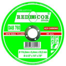 Disco de Desbaste em Aço Carbono 4.1/2 x 1/4 x 7/8 Pol.