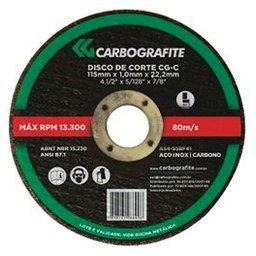 Disco de Corte para Aço Inoxidável de 115 x 1,0 x 22,2mm