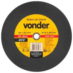 Disco de corte DCV Grão 30 de 355 x 3,2 x 25,40mm
