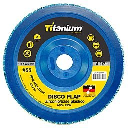 Disco Flap Base Nylon Zircônio 4.1/2 Pol. Grão 60