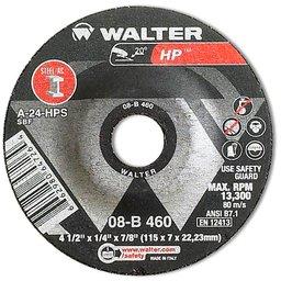 Disco de Desbaste HP 4.1/2 x 1/4 x 7/8 Pol. 115 x 7 x 22,23mm