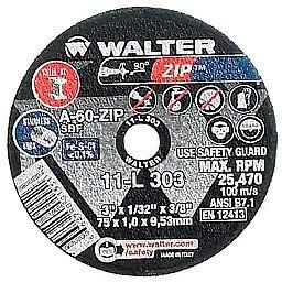 Disco de Corte Zip 3 x 1/32 x 3/8 Pol. para Metal e Aço Inox