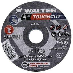 Disco de Corte Toughcut 4-1/2 x 3/64 x 7/8 Pol. para Metal e Aço Inox