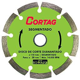 Disco de Corte Diamantado Segmentado 110 mm
