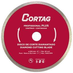 Disco de Corte Contínuo Diamantado Profissional Plus 200mm