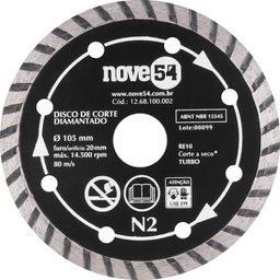Disco De Corte Diamantado 105 mm Turbo N2