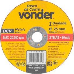 Disco De Corte 75 mm X 1,0 mm X 10 mm
