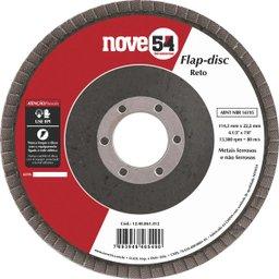 Disco de desbaste/acabamento flap-disc reto 4.1/2 Pol. grão 40 costado de fibra NOVE54