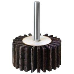 Mini Roda de Lixa 25 x 75mm com Haste 1/4 Pol. Grão 80