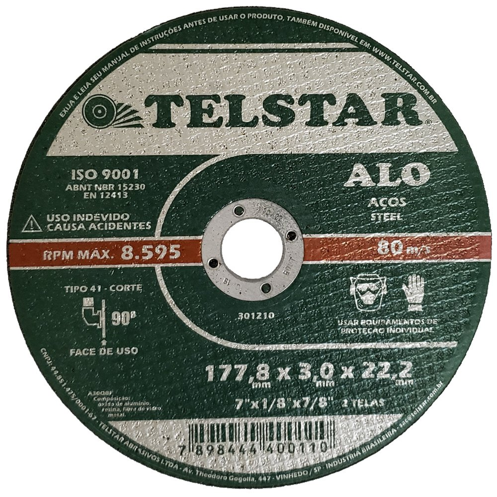 Disco de Corte ALO41 7 x 1/8 x 7/8Pol.