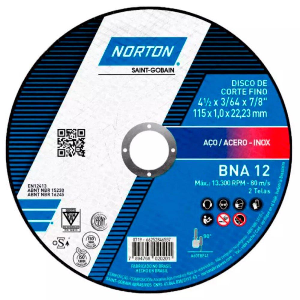 Disco de Corte BNA 12 115x1.6x22.23mm para Aço