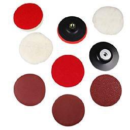 Kit de Acessórios de Polimento, Lixamento e Acabamento P/ Esmerilhadeira 4.1/2 Pol