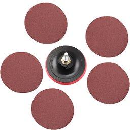 Disco de 115 mm para Politriz e Esmerilhadeira com 5 Lixas