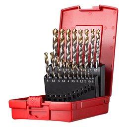 Jogo de Brocas HSS Din 338 1 a 10mm com 19 Unidades