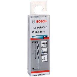 Jogo de Brocas para Metal HSS PointTeQ 3,4mm com 10 Peças