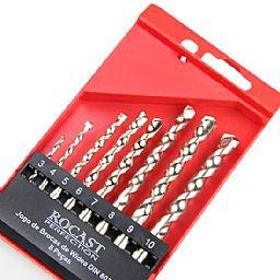 Jogo de Brocas Widea 3 a 10mm DIN 8039 com 8 Peças