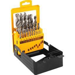 Jogo de brocas de aço rápido DIN 338 1mm a 13mm com 25 peças VONDER