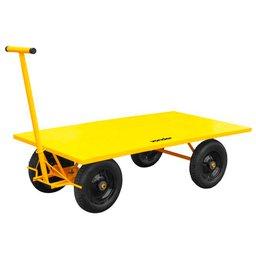 Carrinho Plataforma Amarelo Metálico 600kg
