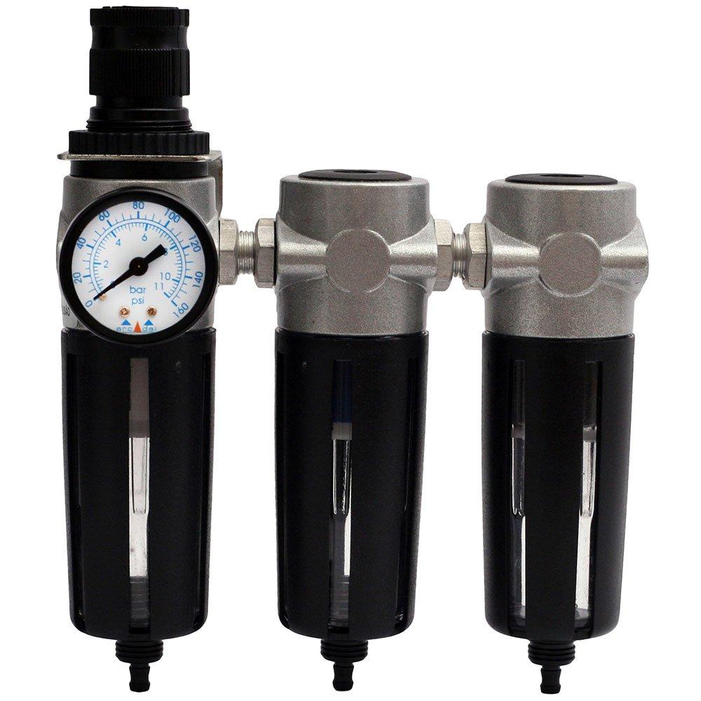 Conjunto Odontológico com Filtro Regulador + Coalescente + Carvão 1/4 Pol. BSP
