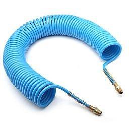Mangueira Espiral em Poliamida Azul de 15 Metros - 1/4 Pol. NPT