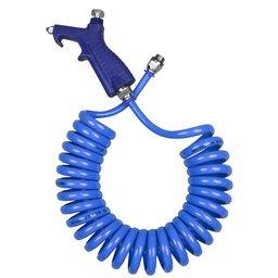 Bico de Limpeza com Mangueira Espiral Azul em PU 8 x 5,5 mm de 3,5 Metros