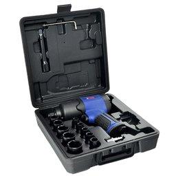 Kit Chave de Impacto Pneumática 1/2 Pol. 69kgf 7500RPM com Maleta e 14 Acessórios