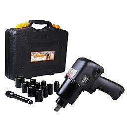 Jogo Chave Parafusadeira de Impacto Pneumática 1/2 Pol. FG3300 com 11 Acessórios e Maleta
