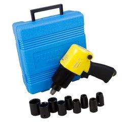 Kit Chave de Impacto 59Kgfm de 1/2 Pol. com 9 Soquetes