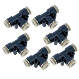 Kit Conexão União em T 8mm com 6 Peças