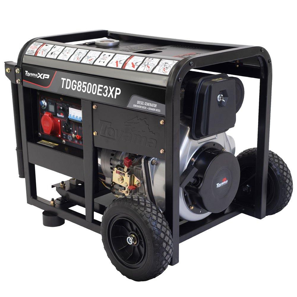 Gerador a Diesel TDG8500E3XP Trifásico 380V 498CC 7.5kVA com Partida Elétrica