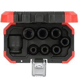 Jogo de Soquete de Impacto Cr-Mo 1/2 Pol. 10-24mm com 8 Peças